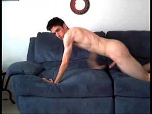 Horny Euro Gay Boy Fucks The Sofa On Cam