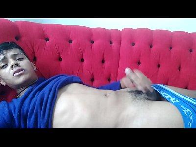 Pierced Arab Cam Boy Strokes His Small Dick