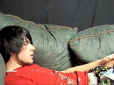 Cute Emo Cam Boy Cums On His Hair And Face
