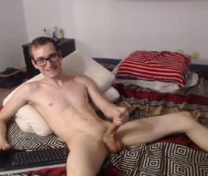 My Pale Nerdy Gay Cam Boy Jayce Wanks Off