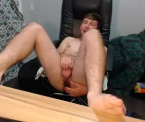 Young Gay Cam Boy Carmine Fingers His Hairy Ass