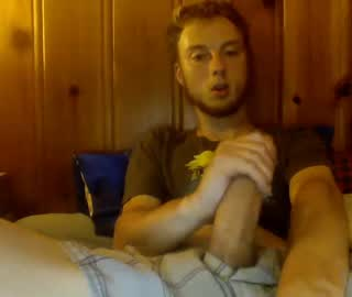 American Cam Gay Boy Strokes His Big Fat Penis