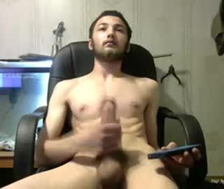 Bearded Straight Boy Rubs Hard His Huge Dick On Gay Cam Show