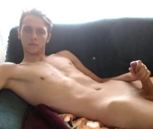 Thin Euro Cam Gay Boy Mike Jerks Off