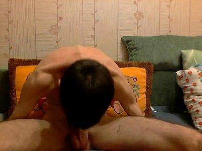 My Russian Twink Self Sucks His Juicy Dick On Webcam