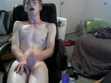 My Pale American Boy Kin Strokes His Thick Cock