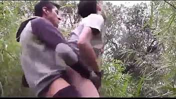 Colombian Teen Couple Fucking Condomless In The Jungles
