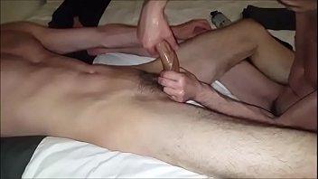 Hairy Boy Getting Helping Hand