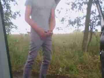 Amateur Teen Outdoor Wank Session